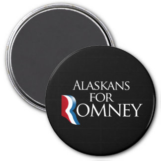 Alaskans for Romney -.png 3 Inch Round Magnet