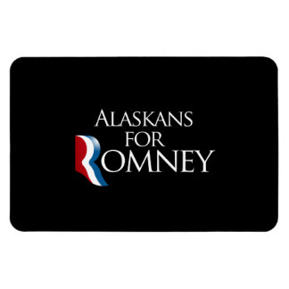 Alaskans for Romney -.png Rectangular Photo Magnet