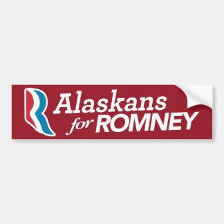 Alaskans para el COLOR del PERSONALIZADO de la peg Pegatina De Parachoque