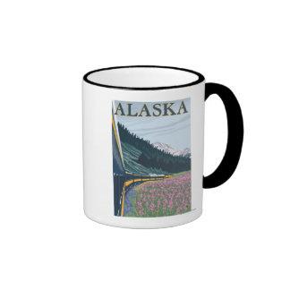 AlaskaRailroad and Fireweed Vintage Travel Mug