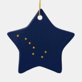 Alaska's Flag Ceramic Ornament