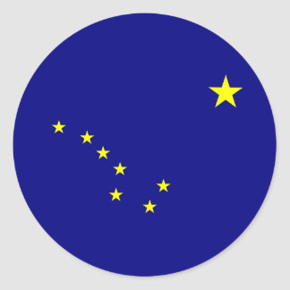 Alaska's Flag Classic Round Sticker