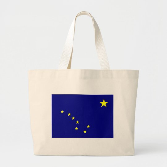 Alaska's Flag Large Tote Bag