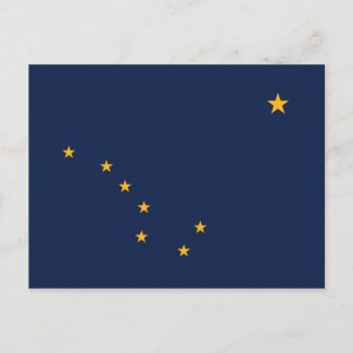 Alaska's Flag postcard
