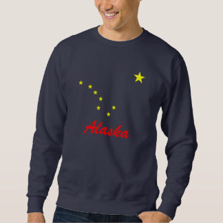 Alaska's Flag Pull Over Sweatshirts