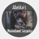 Alaska's Homeland Security Round Stickers