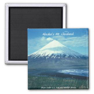 Alaska's Mt. Cleveland 2 Inch Square Magnet