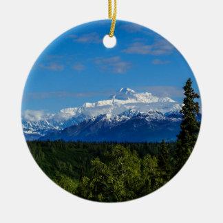 Alaska's Mt. McKinley Ceramic Ornament
