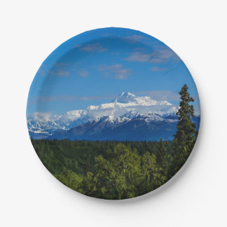 Alaska's Mt. McKinley Paper Plate
