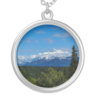 Alaska's Mt. McKinley Silver Plated Necklace