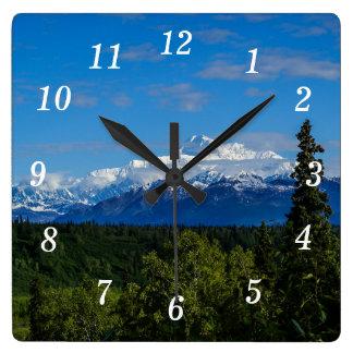 Alaska's Mt. McKinley Square Wall Clock