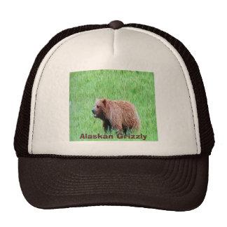 Alaskian-grizzly, on a truckers cap trucker hat
