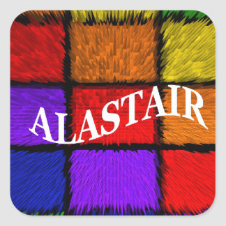 ALASTAIR SQUARE STICKER
