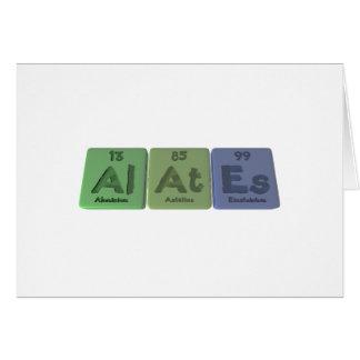 Alates-Al-At-Es-Aluminium-Astatine-Einsteinium Card