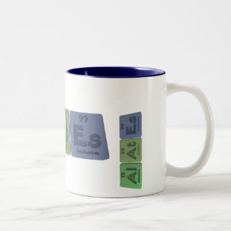 Alates-Al-At-Es-Aluminium-Astatine-Einsteinium Two-Tone Coffee Mug
