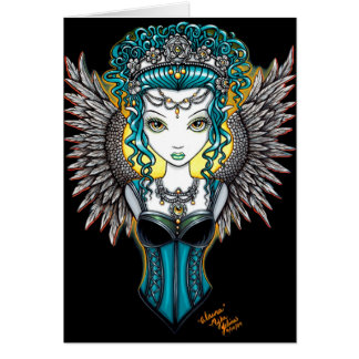 """Alaura"" Gothic Guardian Angel Card"