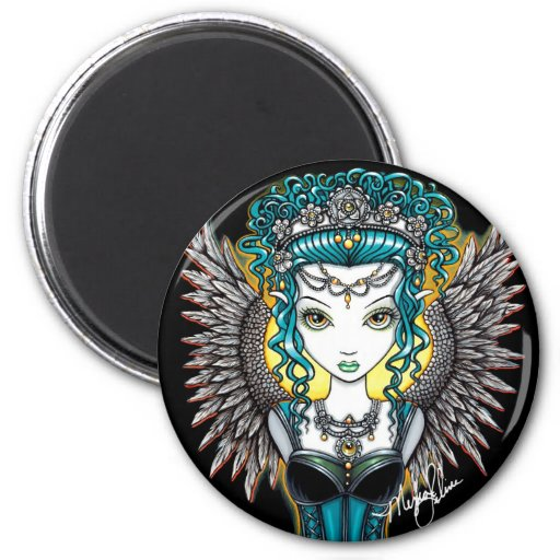 """""""Alaura"""" Gothic Guardian Angel Magnet"""