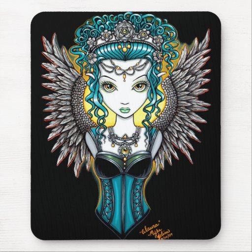 """Alaura"" Gothic Guardian Angel mousepad"