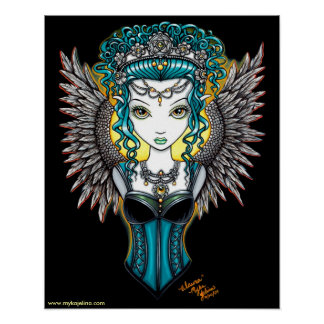 """Alaura"" Gothic Guardian Angel Posters"