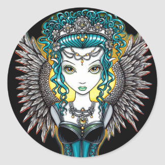 """Alaura"" Gothic Guardian Angel Stickers"