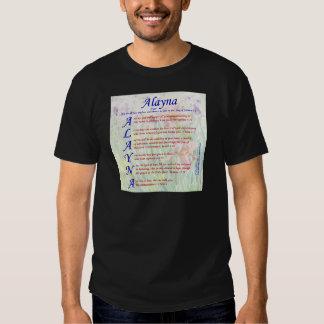 Alayna Acrositc Remera