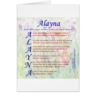 Alayna Acrositc Tarjeta De Felicitación