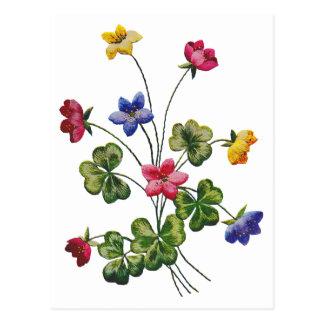 Alazán de madera bordado colorido hermoso tarjeta postal
