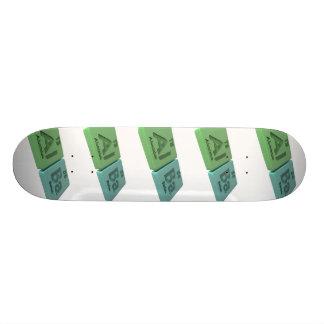 Alba as Aluminium Al and Barium Ba Skateboard