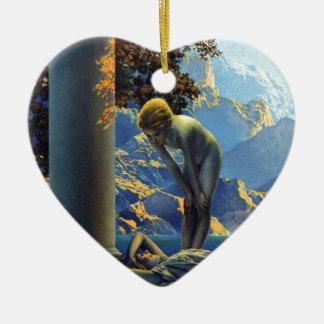 Alba de Maxfield Parrish Adorno De Cerámica En Forma De Corazón