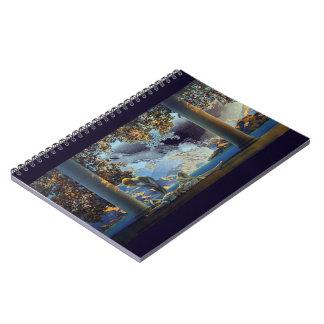 Alba del ver 2 de Maxfield Parrish Libreta