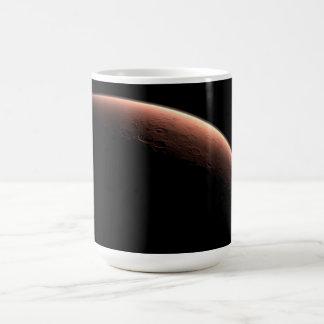 Alba en el cráter del vendaval tazas de café