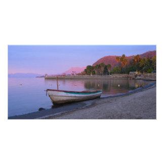 Alba en las orillas de Chapala del lago Tarjetas Fotograficas