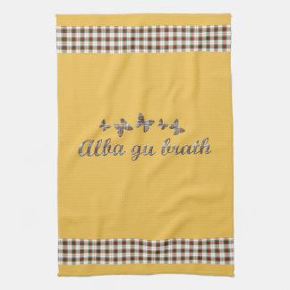 Alba gu brath Scottish Gaelic Tartan Alba Towel