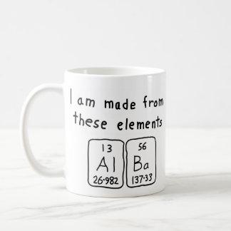 Alba periodic table name mug