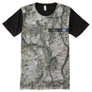 Alba Scotland Silver Birch Tree Saltire All-Over-Print Shirt