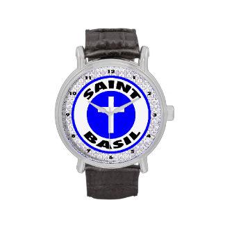 Albahaca del santo relojes de pulsera