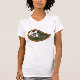 Albahaca la camisa ligera de las mujeres del cerdo