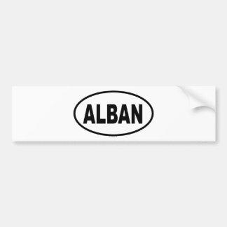 ALBAN BUMPER STICKER