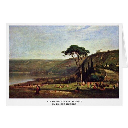 Alban Italia (lago Albano) por Inness George Tarjeta De Felicitación