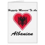 Albanés feliz casado felicitaciones
