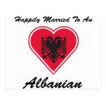 Albanés feliz casado postal