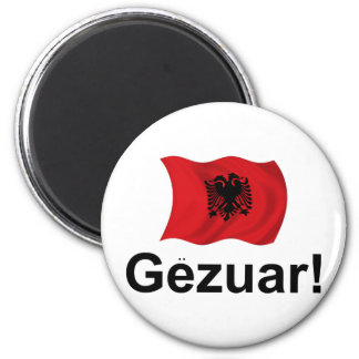 ¡Albanés Gezuar! (Alegrías) Imán Redondo 5 Cm