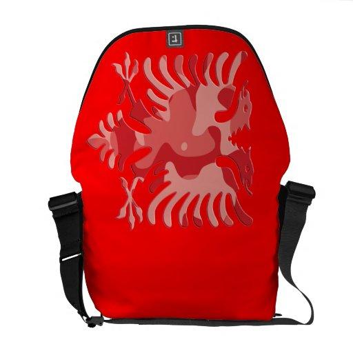 Albanés rojo Eagle 3D de Camo Bolsas Messenger