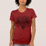 Albanés rojo Eagle Camisetas