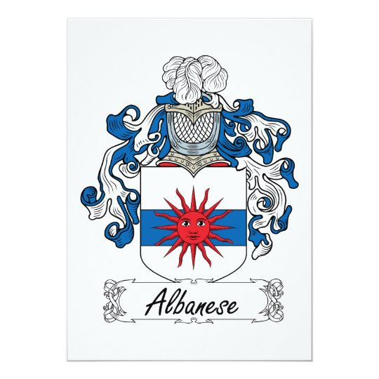 Albanese Family Crest Card