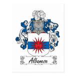 Albanese Family Crest Postcard