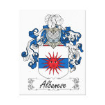 Albanese Family Crest Stretched Canvas Print