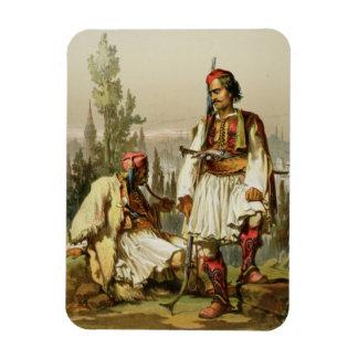 Albaneses, mercenarios en el ejército del otomano, iman flexible
