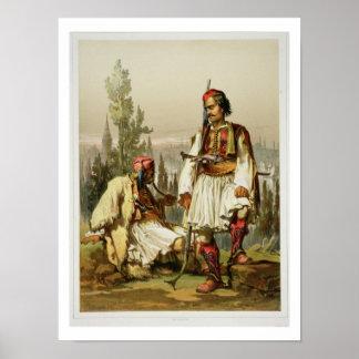 Albaneses mercenarios en el ejército del otomano impresiones