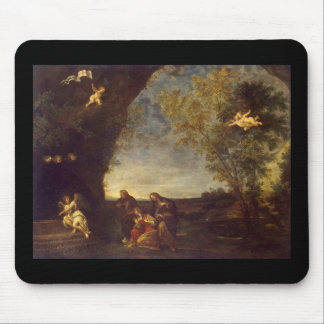 Albani Francesco Holy Women at Chirsts Tomb Mouse Pad